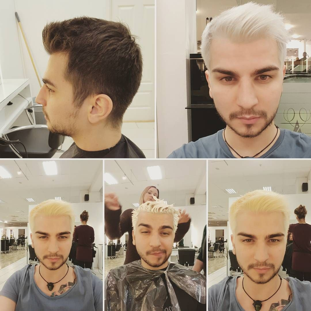 So i got white hair , burns the scalp a little but hey ! #barberlife ...