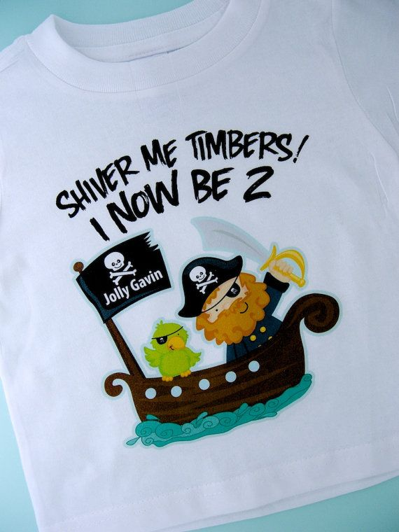 1b0f3de9 Baby clothes, toddler clothes, toys, and gifts for kids. Two Year Old's Pirate  Birthday Shirt ...