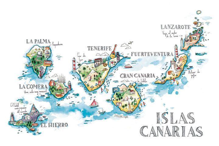 Resultado de imagen de ilustracion canarias