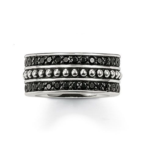 Ring w-Black CZ and Studs - Hers