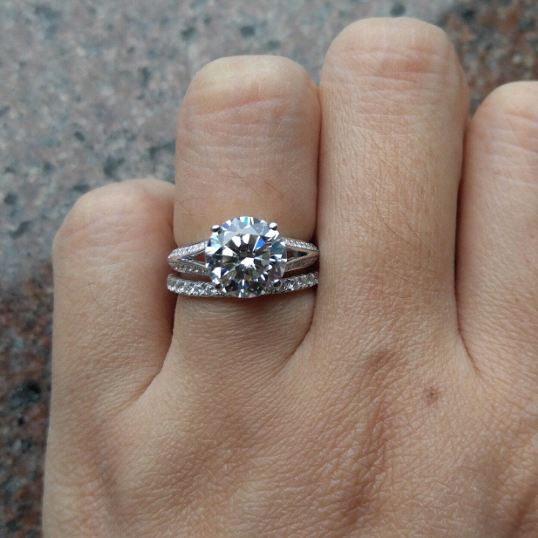 3 carat split band engagement ring - 3 Carat Wedding Ring