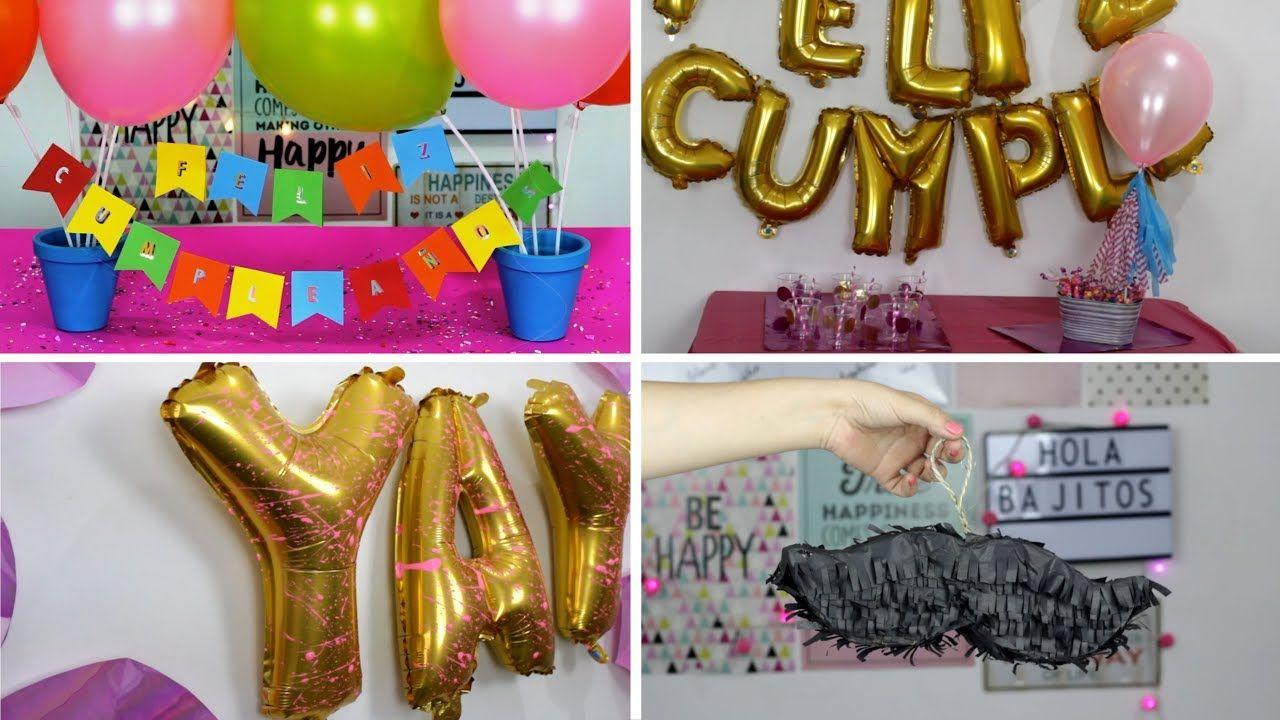 Fiesta de cumplea os manualidades como decorar una for Cuartos decorados feliz cumpleanos