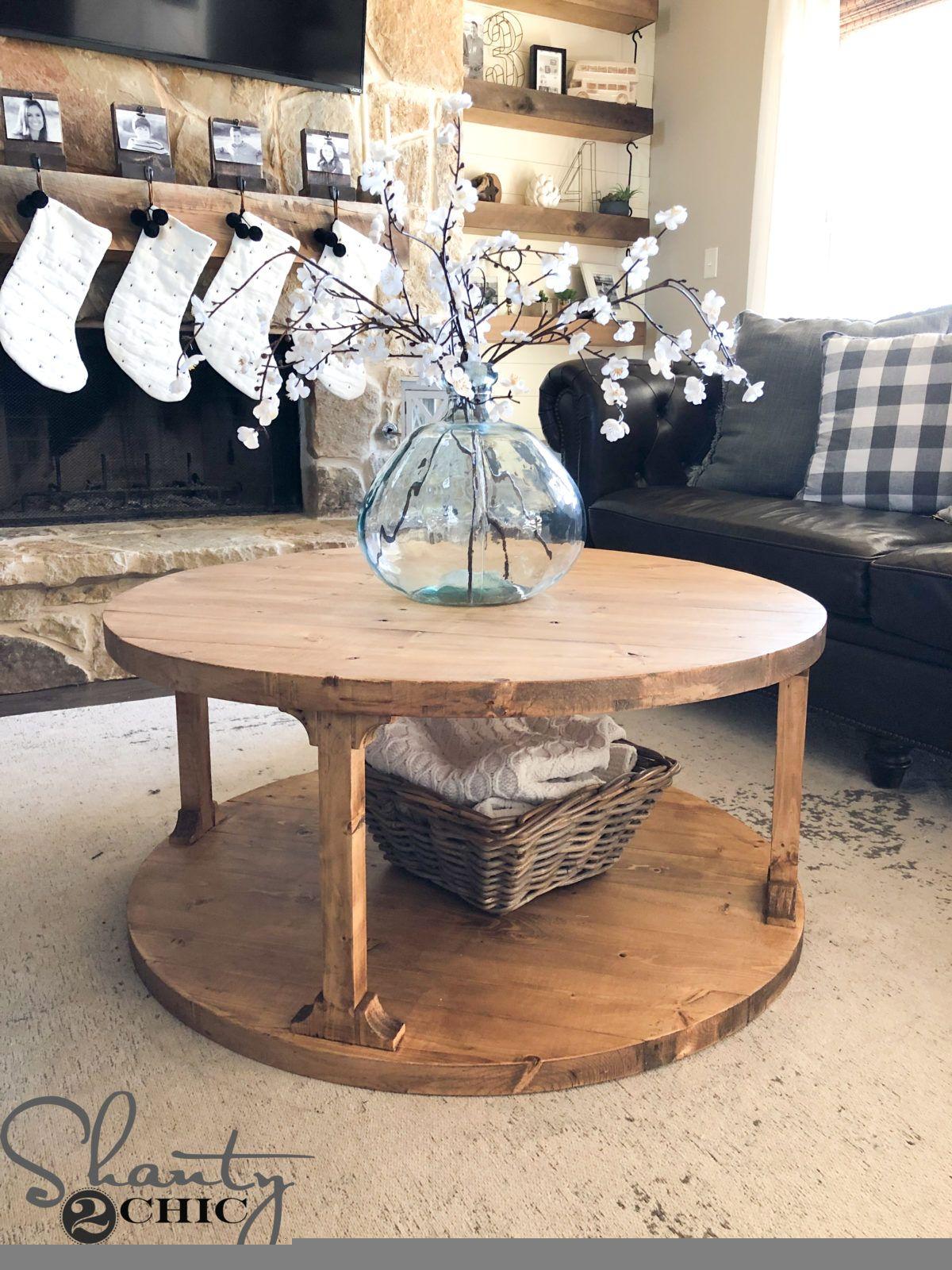 DIY Round Coffee Table Shanty 2 Chic Diy Home Decor, Diy