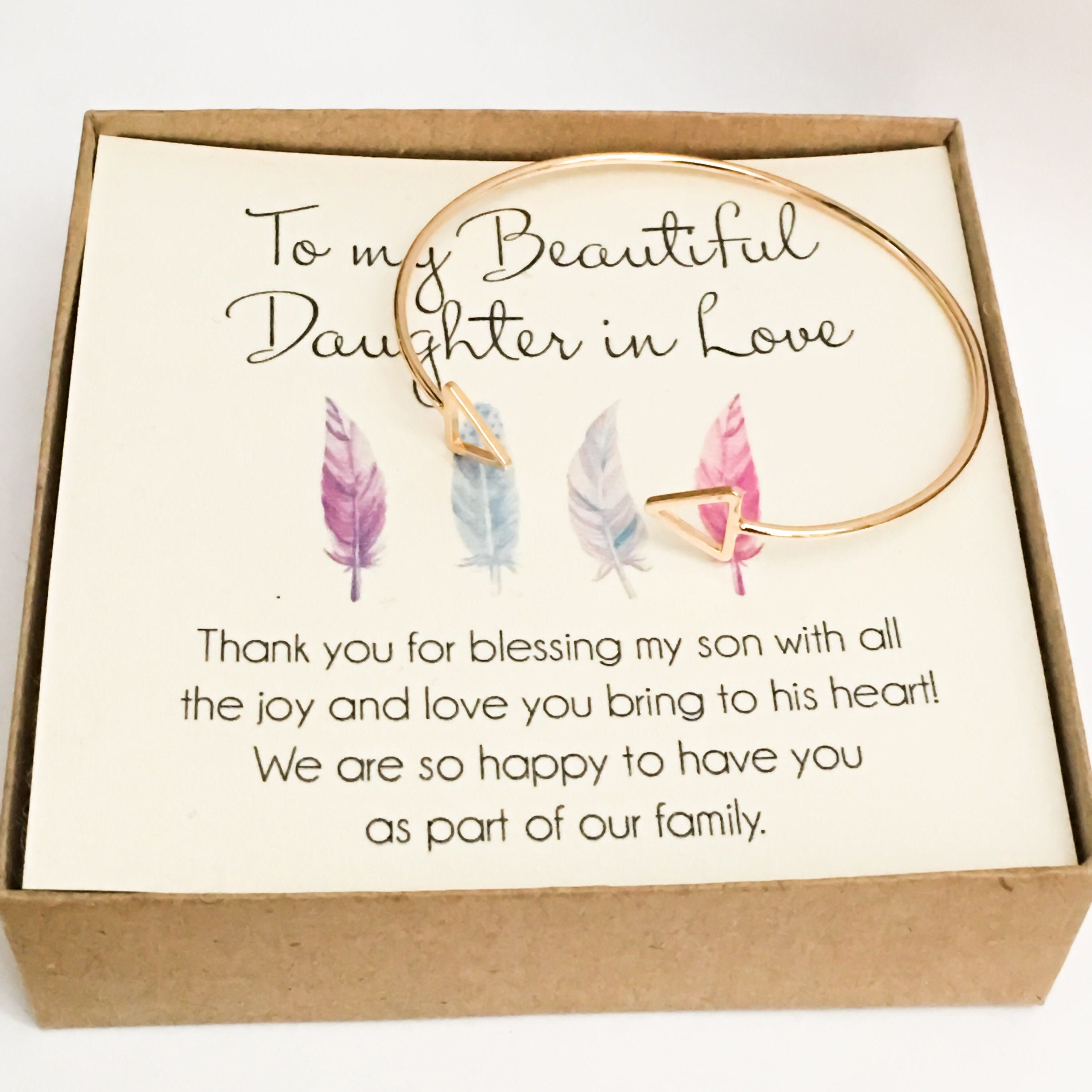 Daughter in Law Bracelet, Daughter in Love Gift, Son's