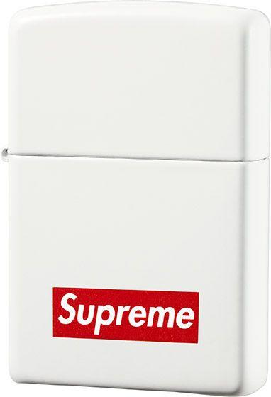 White Matte Supreme X Zippo