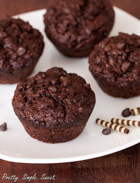 Bakery Style Double Chocolate Muffins Pretty Simple Sweet Recipe Double Chocolate Muffins Chocolate Muffins Homemade Chocolate