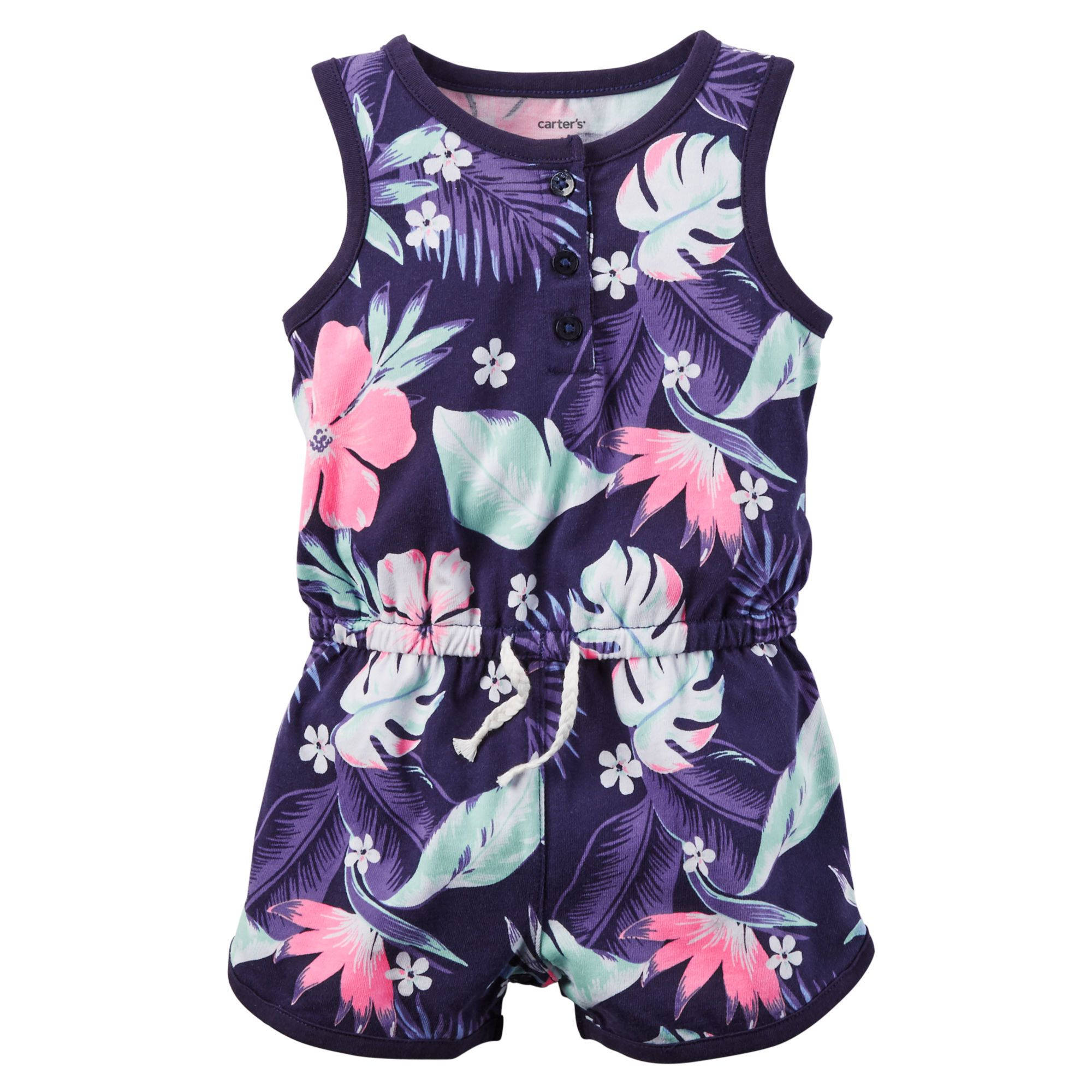 83863fc93 Printed Jersey Romper   Future children   Carters baby girl, Baby ...