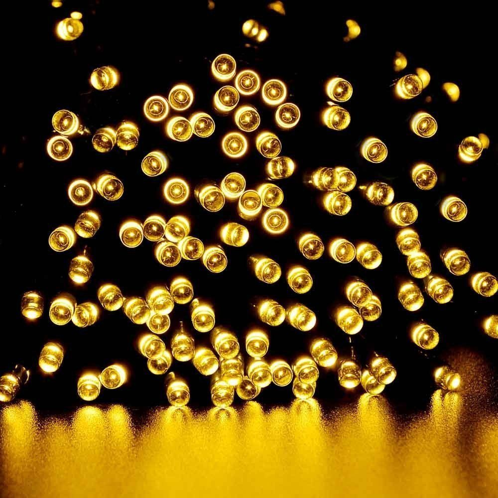 100 LED Outdoor Warm White Solar Lamps LED String Lights Fairy ...