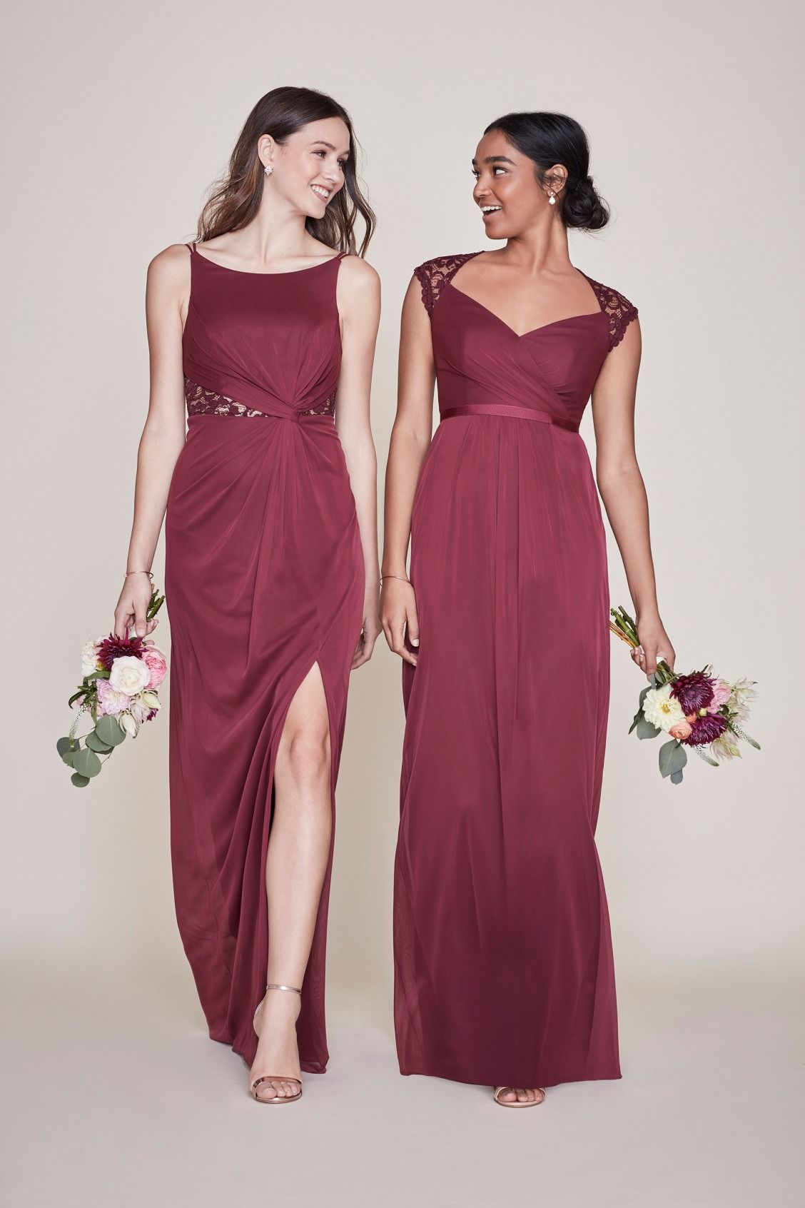 Wine Lace Bridesmaid Dresses For The Burgundy Wedding You