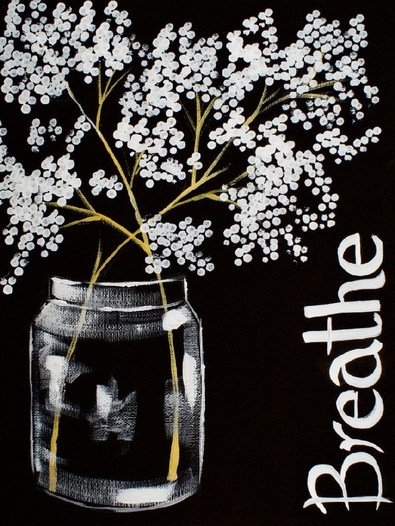 16 EASY Acrylic paintings you can do with cotton Swabs. Q-tip cotton BREATHE