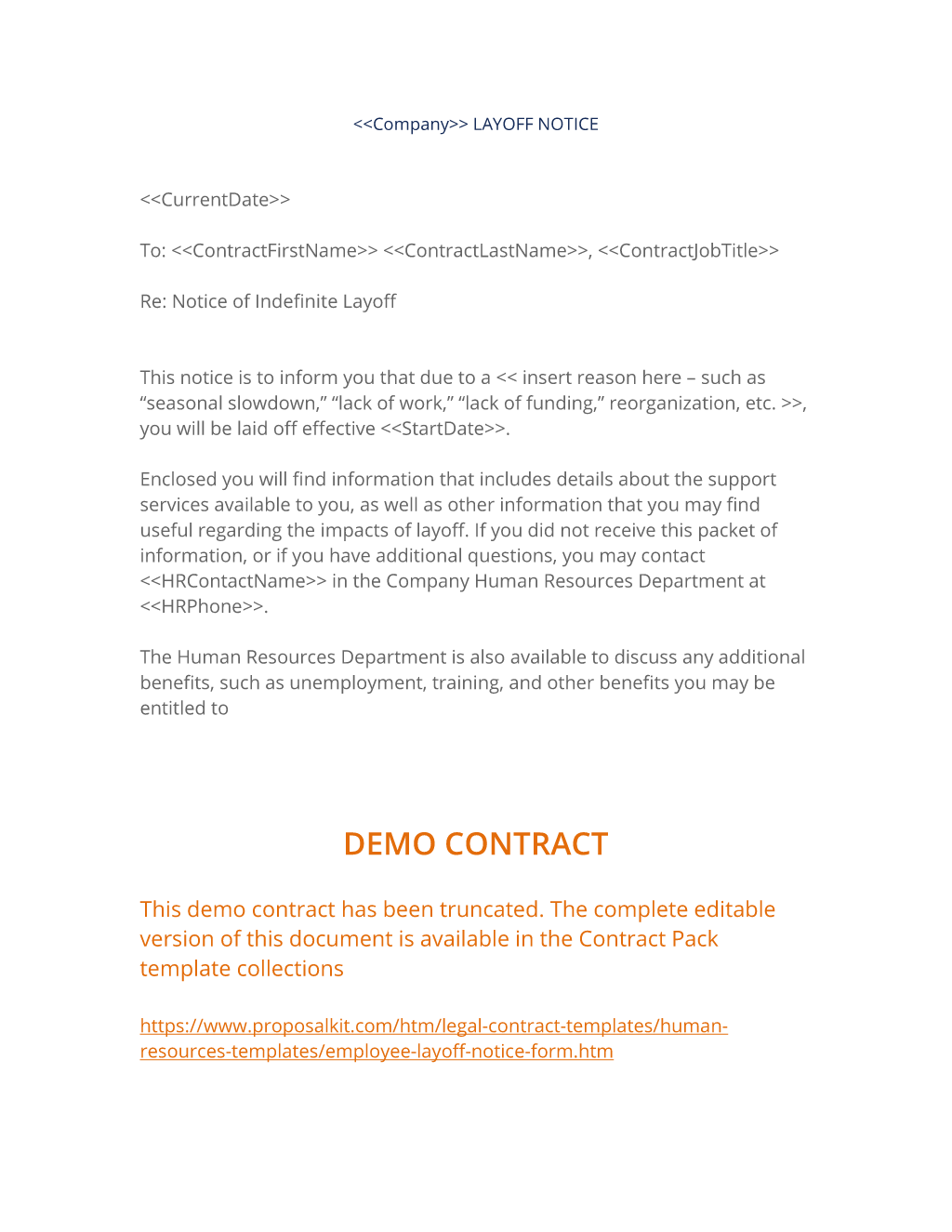 company layoff notice form use the company layoff notice form to