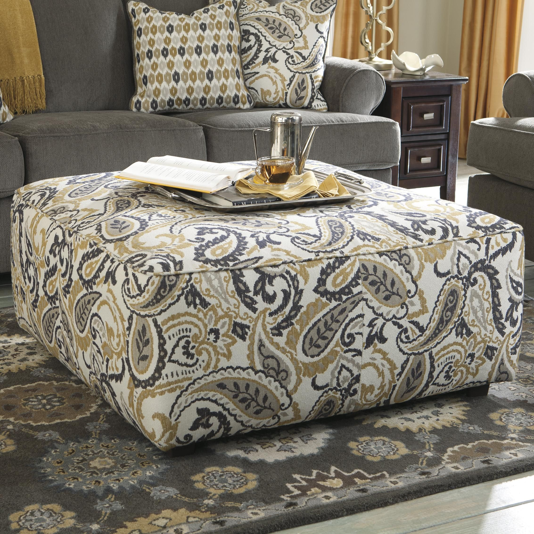 Nebraska Furniture Mart Living Room Sets Coulson Accent Oversized Accent Ottoman By Benchcraft Home