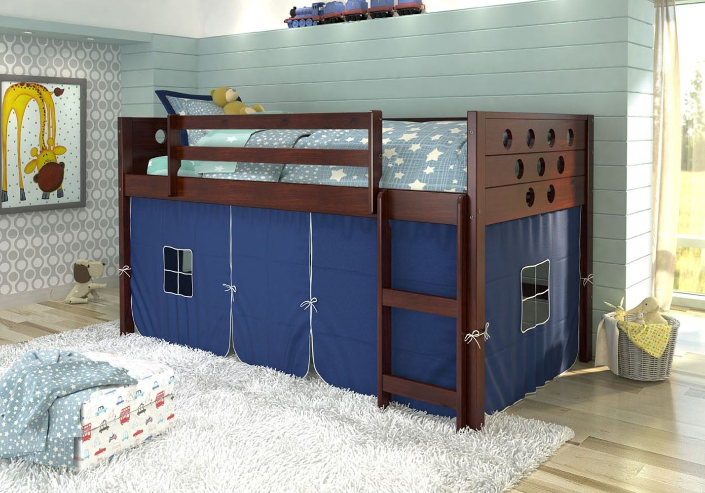 twin cherry imagine morgan south bunk size loft beds bed drawer shore p