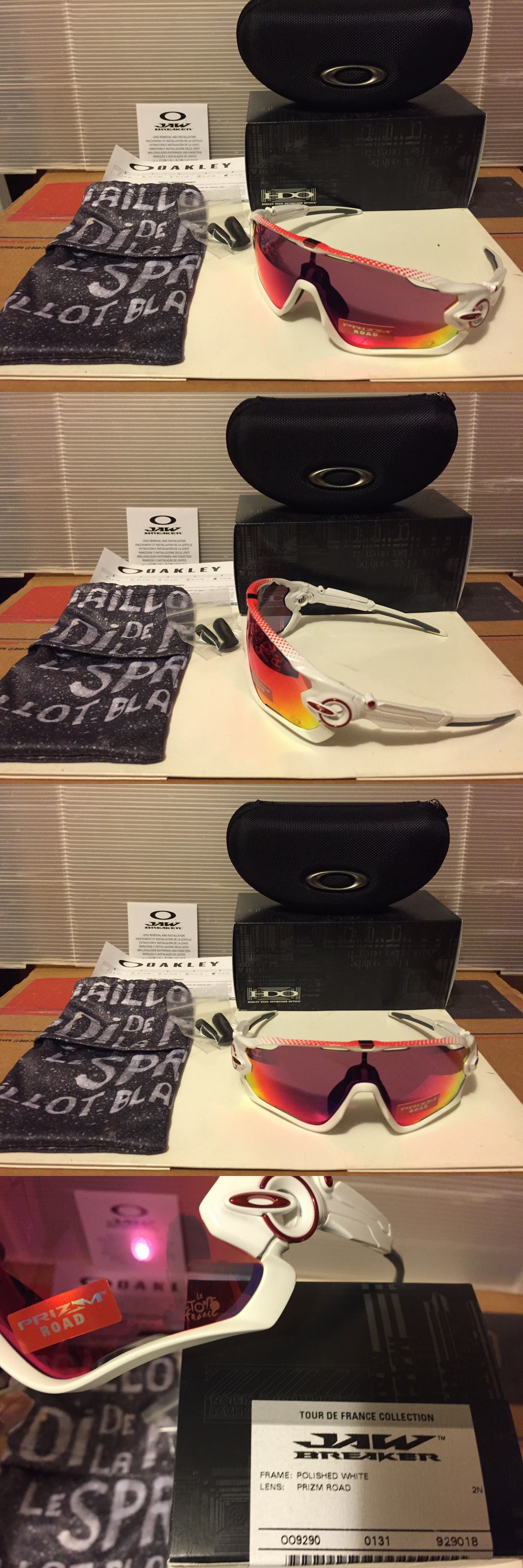 Sunglasses and Goggles 56185  New Oakley Tour De France Jawbreaker - Polished  White   Prizm 9163d1e42576