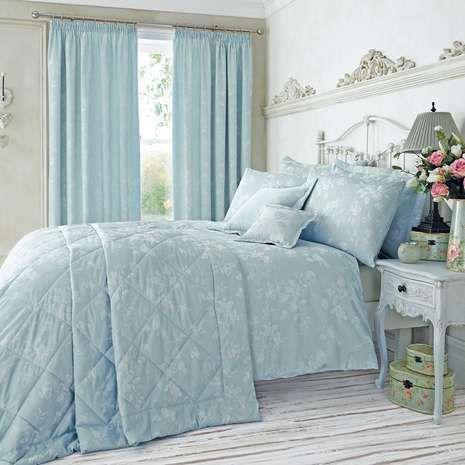 Eden Floral Jacquard Duck-Egg Duvet Cover   Bed linen, Linens and ... : duck egg blue quilt cover sets - Adamdwight.com