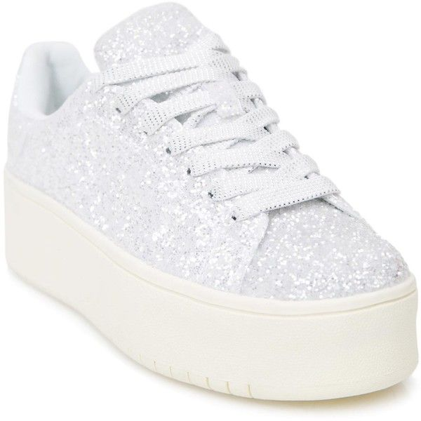 36345a3e833 Shimmer Shock Glitter Sneakers ( 45) ❤ liked on Polyvore featuring ...