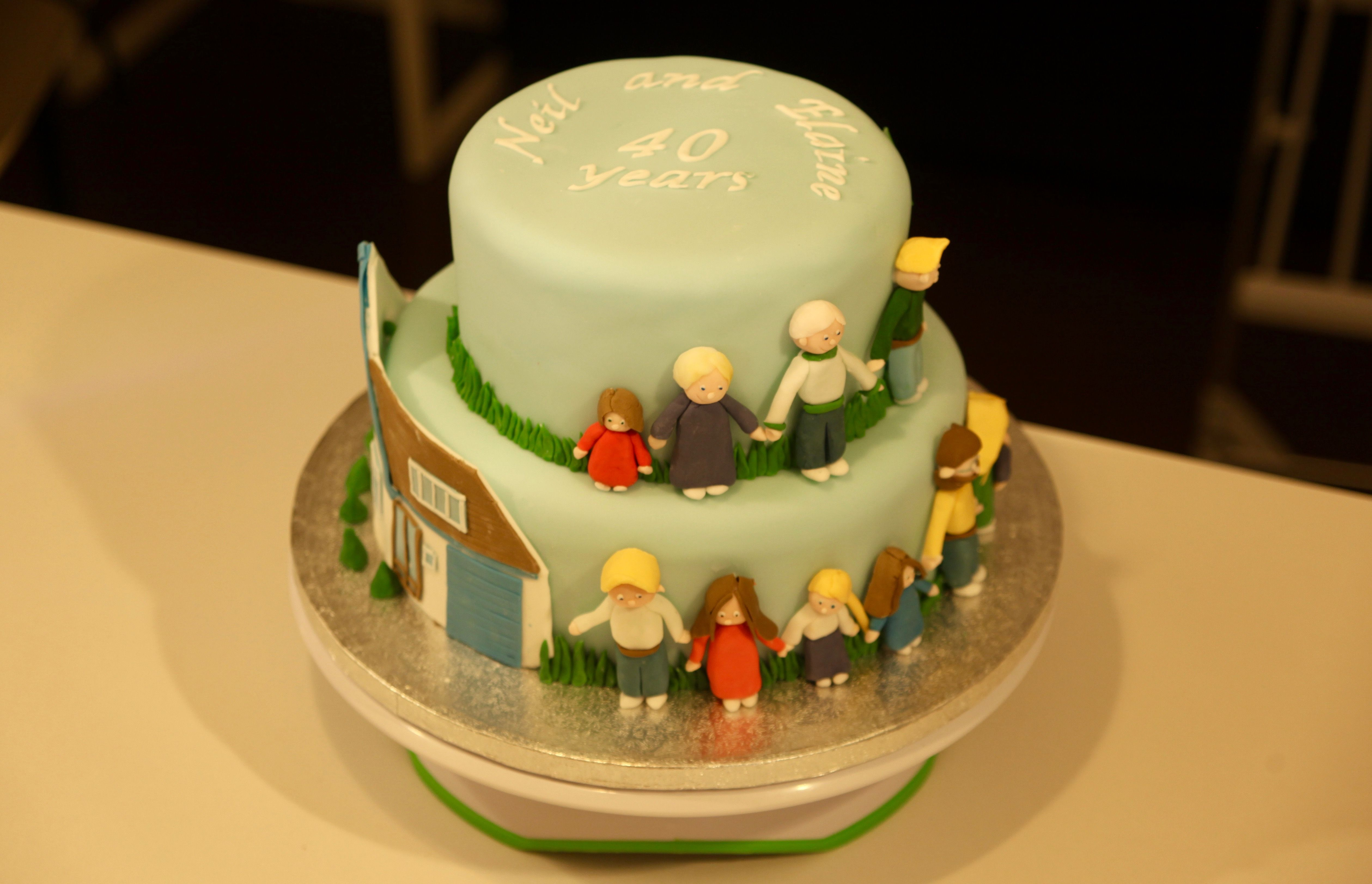 Decoration ideas for 40th wedding anniversary  Some more of the same th wedding anniversary cake  My cakes