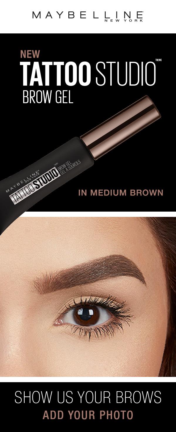 Maybelline Tattoo Studio Waterproof Eyebrow Gel Creates Fuller