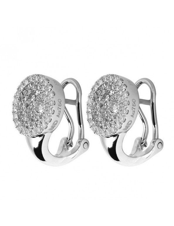 iDiamonds Desta huggy diamond earrings white gold 1