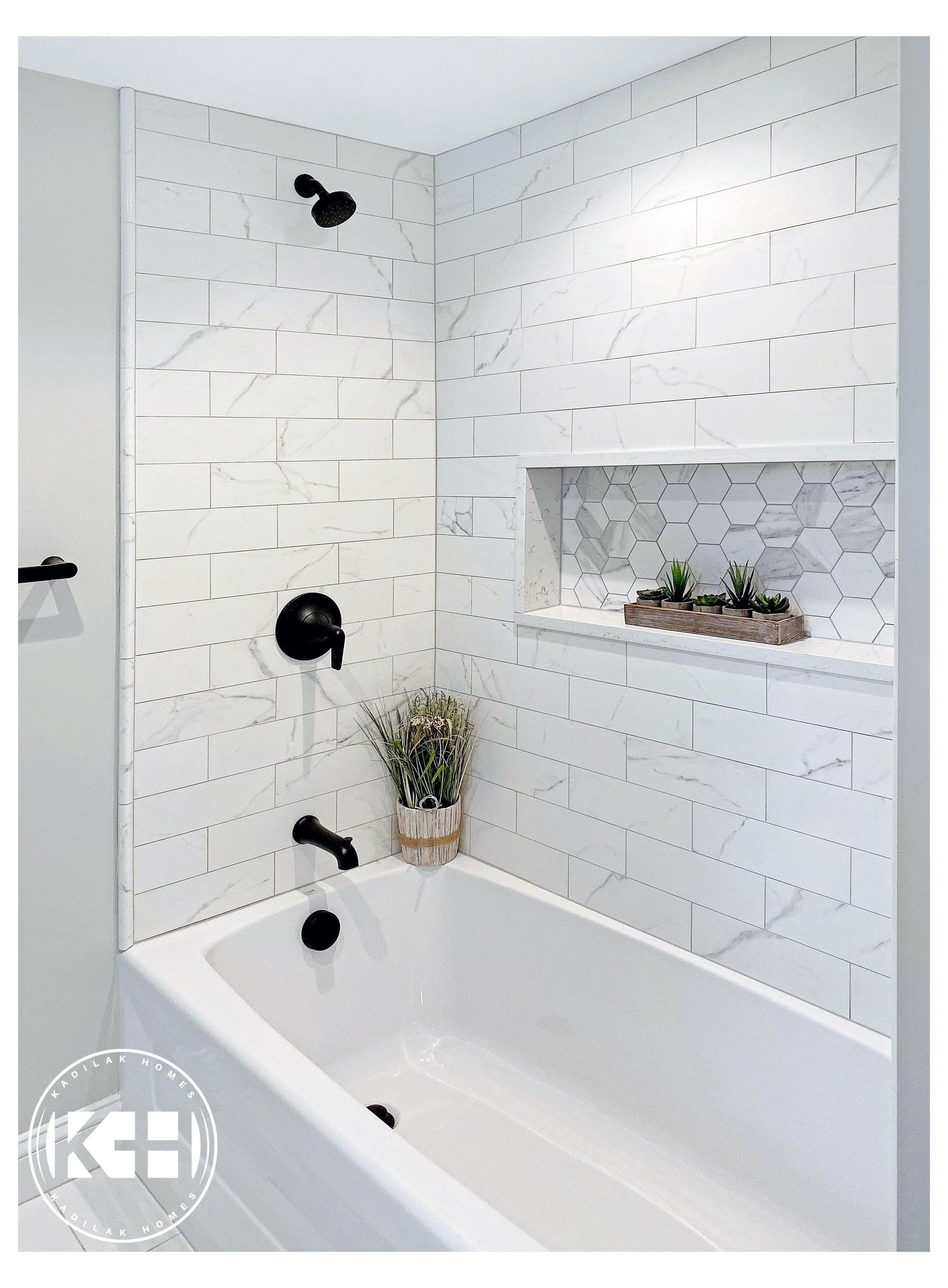 guest bathroom shower tile