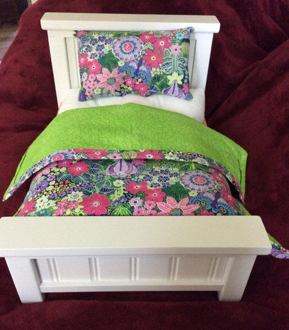 American Girl Doll/18 Doll Bed with by Americandollsshop on Etsy, $59.95