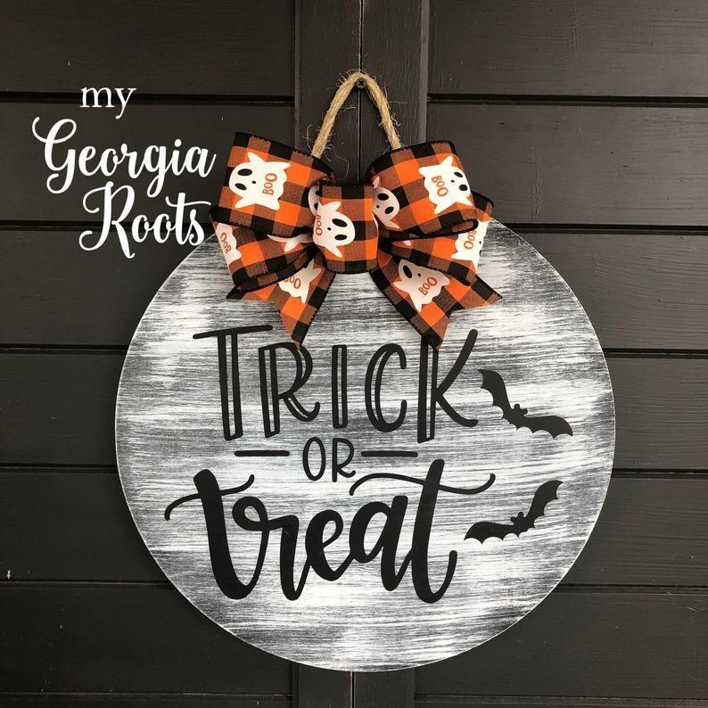 Halloween Wreath Halloween Door Hanger Boo Yall Sign