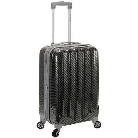 Rockland Melbourne 20 inch Expandable ABS Carry-On, Black