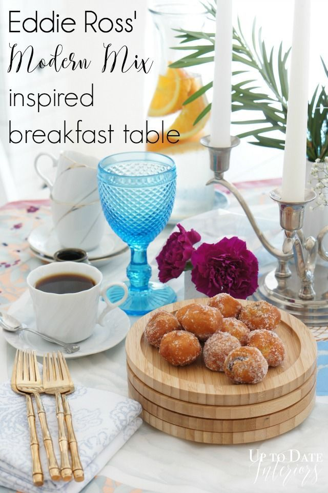"""Inspired by DIY: Eddie Ross Tablescape with decorating tips to achieve the """"Modern Mix"""" look 