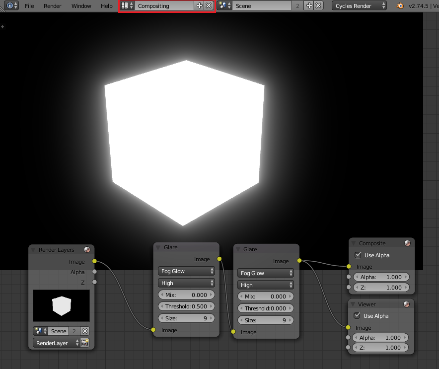 My cube doesn't want to glow  (2 70+ cycles, volumetric) | Blender