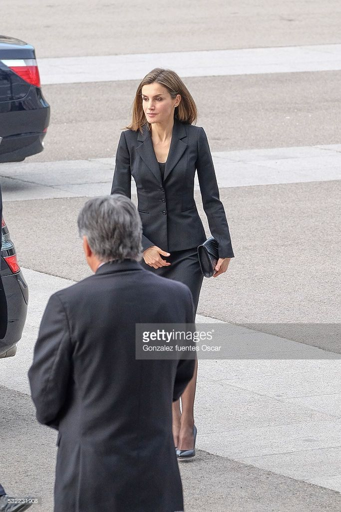 Queen Letizia of Spain attend a tribute Mass for the earthquakes victims in Ecuador at the La Almudena Cathedral on May 17, 2016 in Madrid, Spain.