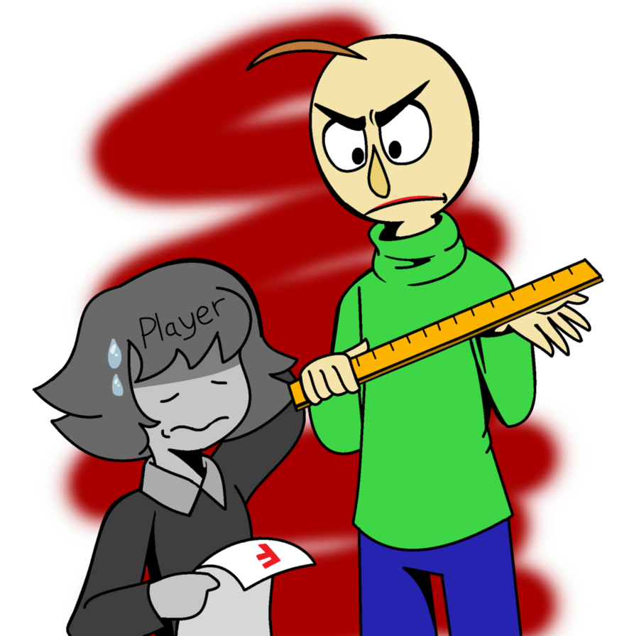 .AT Baldi and Player. by NikkiCrystal Yandere