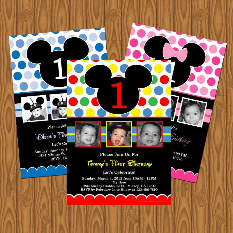 Mickey Mouse Clubhouse and Minnie Mouse Party Invitations. $13.99 ...