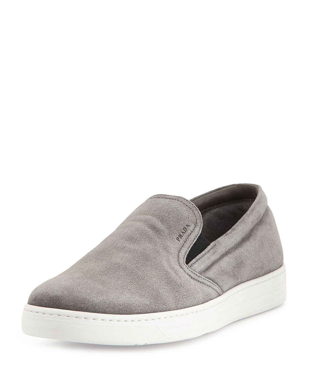 7e864efd45df Prada Suede Slip-On Sneaker