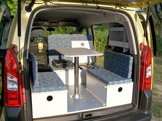 c tech campingvan minicamper citroen berlingo. Black Bedroom Furniture Sets. Home Design Ideas
