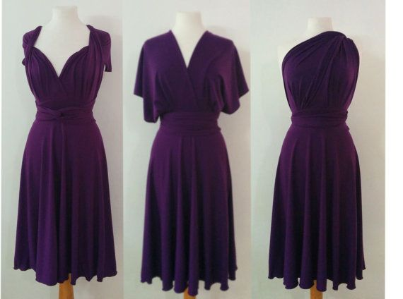 Infinity Dress Convertible/Twist plum  purple  by Emilydresses