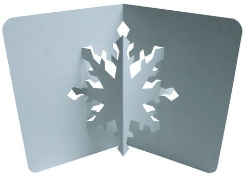 Free Pattern Kirigami Flocon De Neige Pop Up Cartes De
