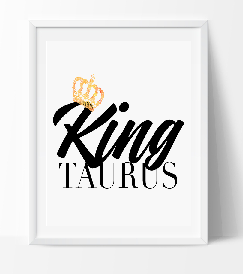 Taurus King/Queen Print – ZodiacCity Shop