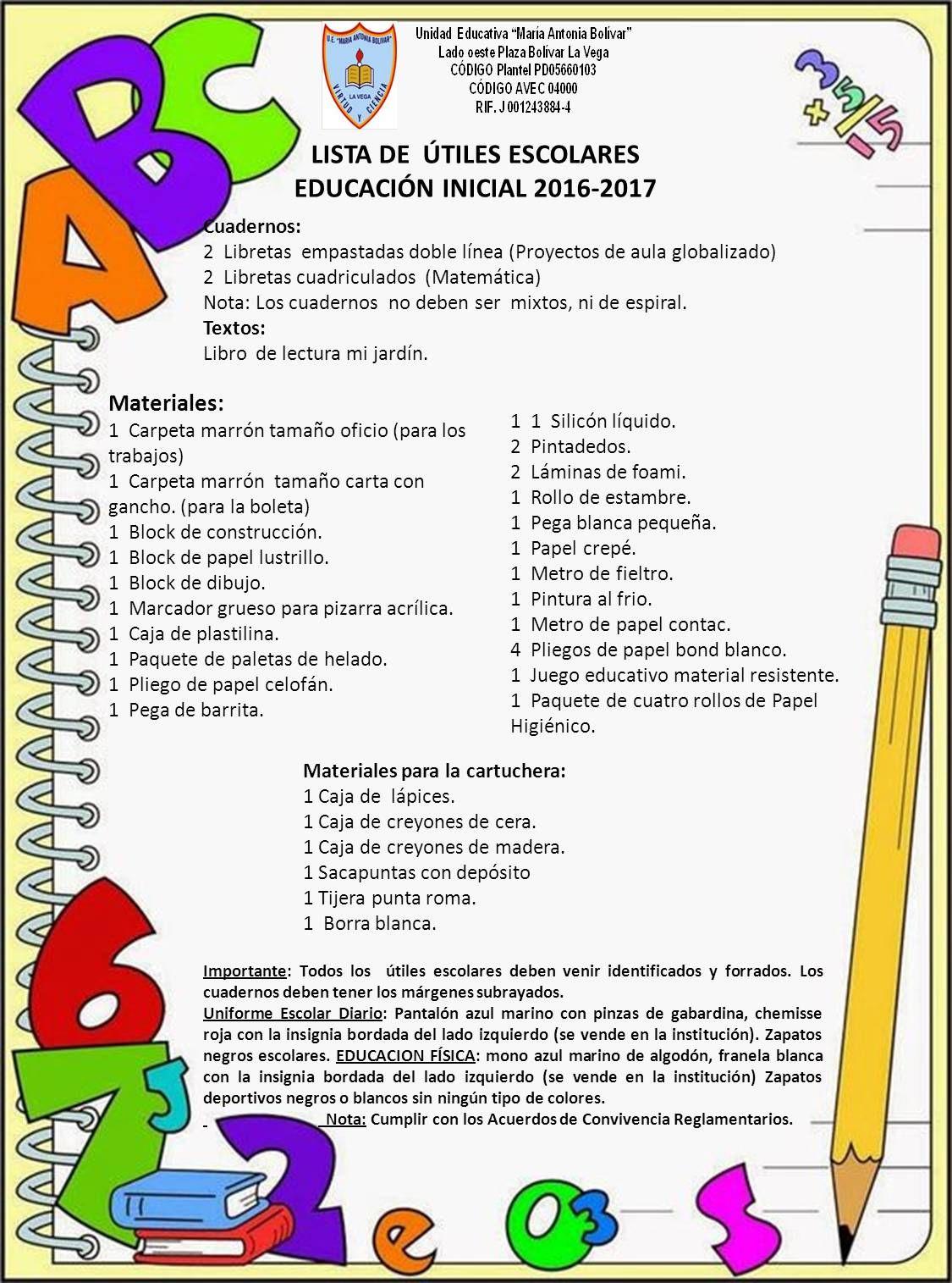 lista de utiles escolares - Google Search | Mrs Herrera | Pinterest ...