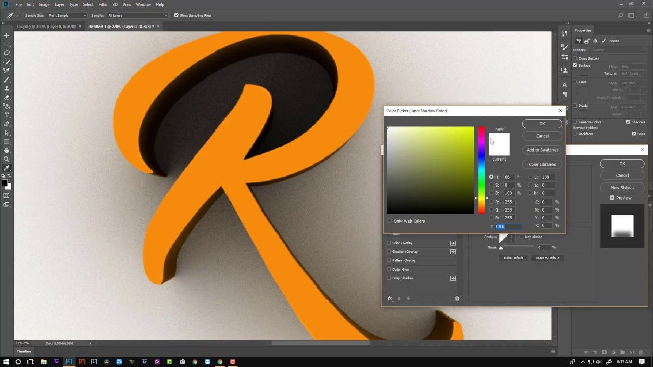Watch on YouTube: Creating 3D Logo With Any Shape In Photoshop CC