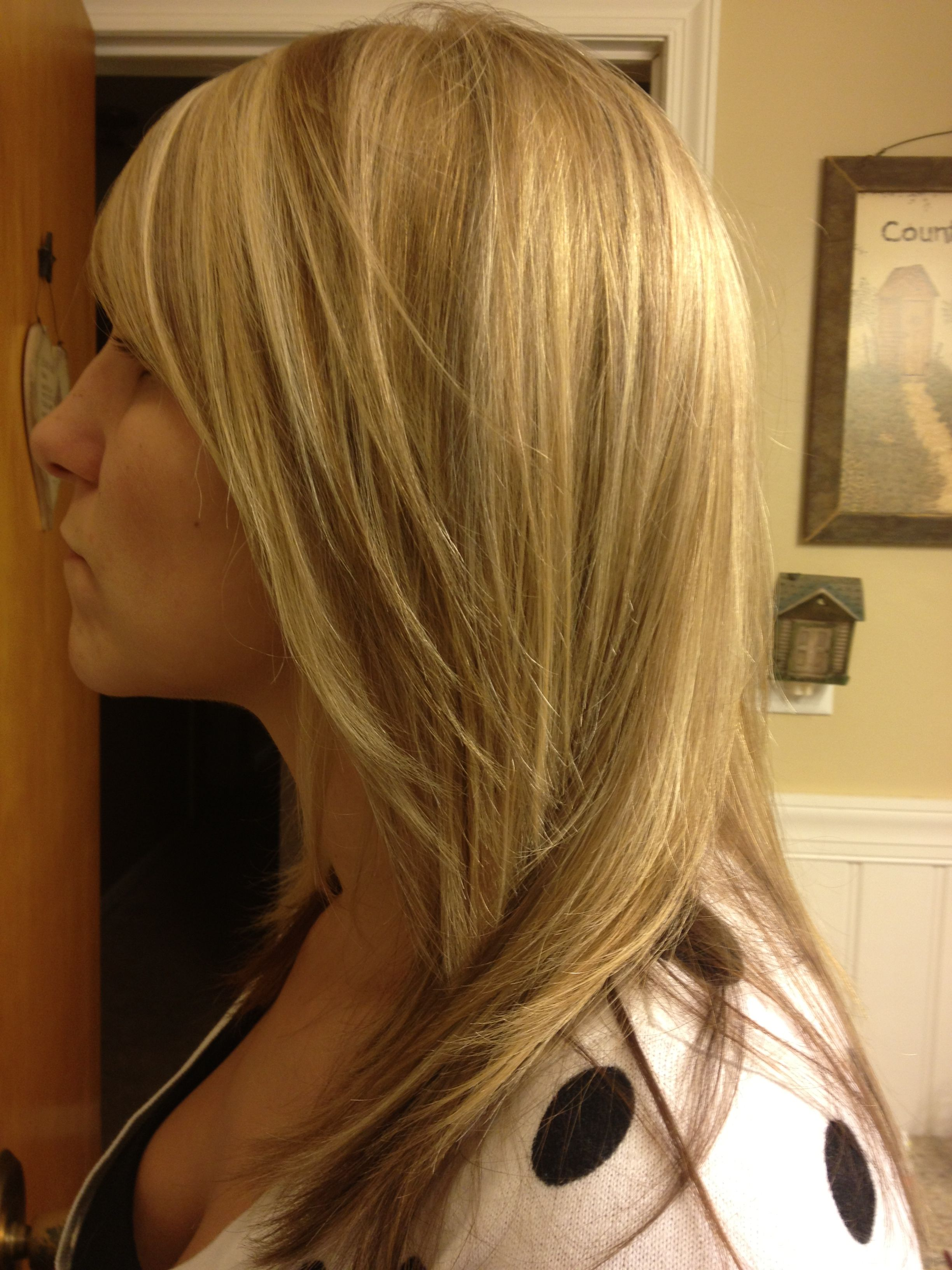 Three blonde hair foils