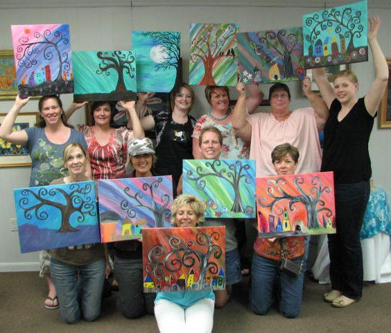 """Paint the Town's """"Fairy Village II. Such a variety of designs!"""