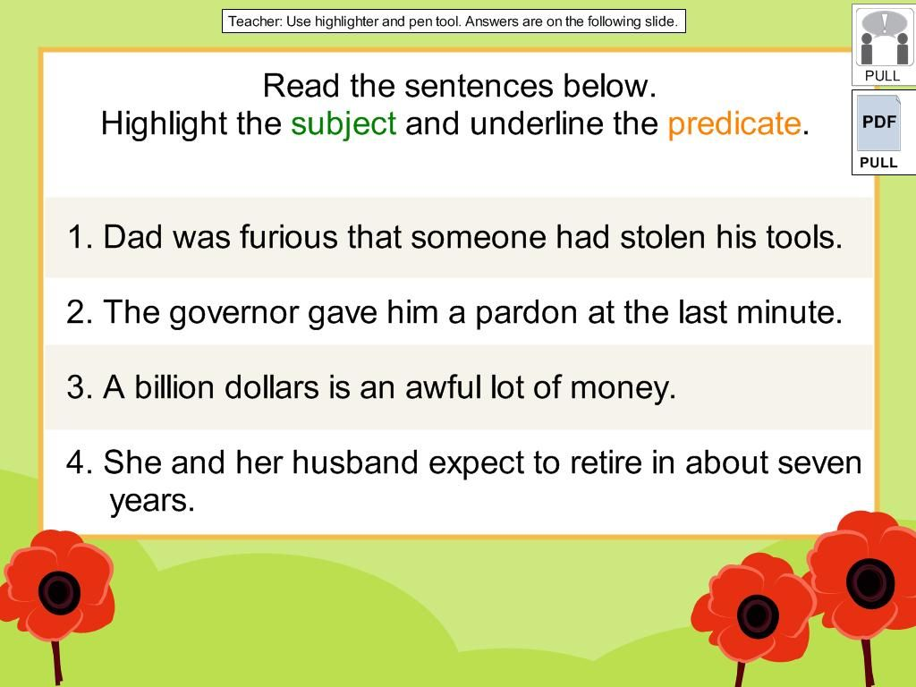 6th Grade Complete Sentences Digicore