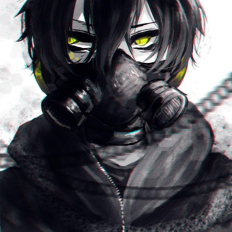 Anime Boy Toxic Anime Gas Mask Anime Boy Anime Style