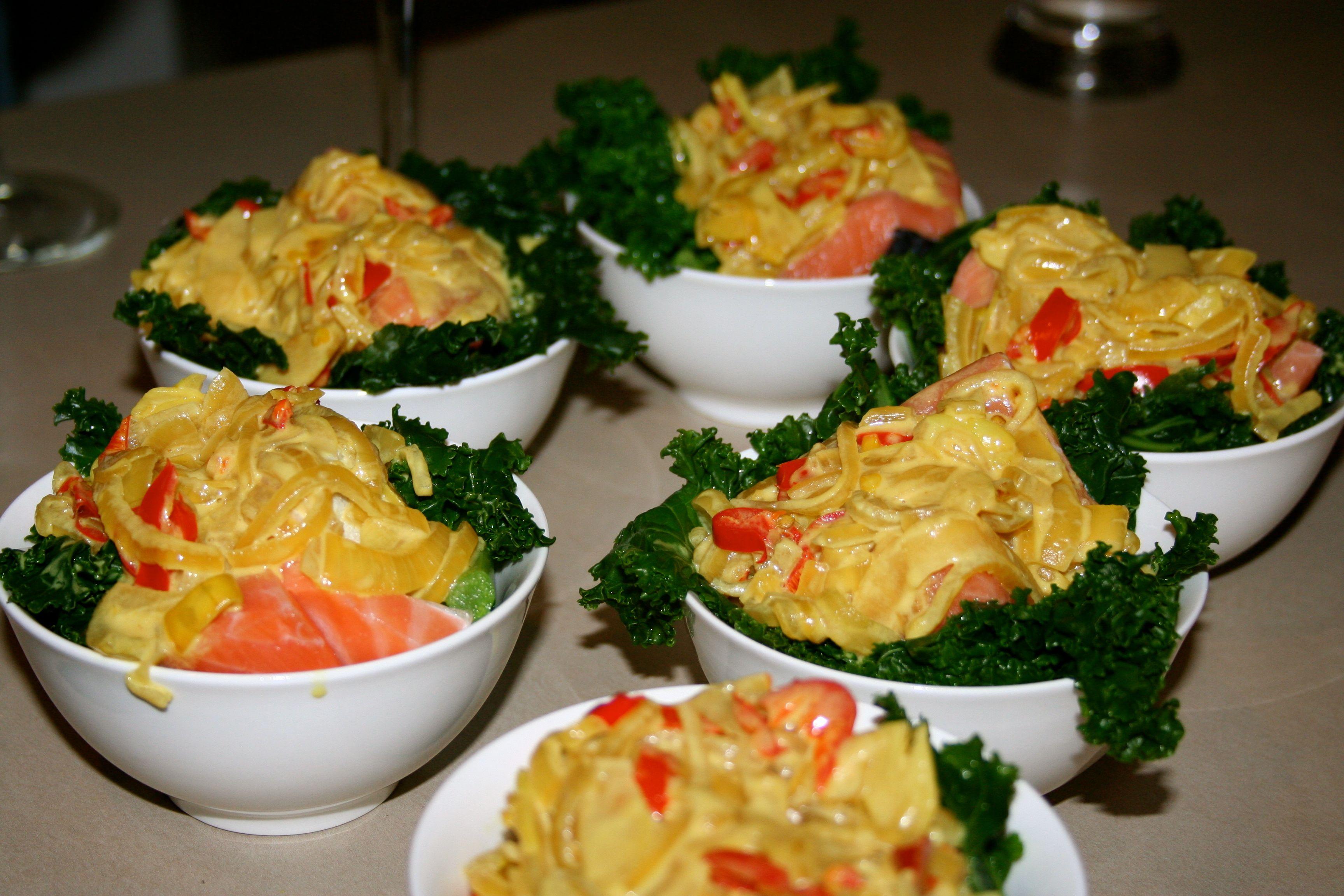 Resep Ikan Salmon Kukus Daun Singkong Resep Masakan Dapur Arie Resep Resep Ikan Makanan Masakan Asia
