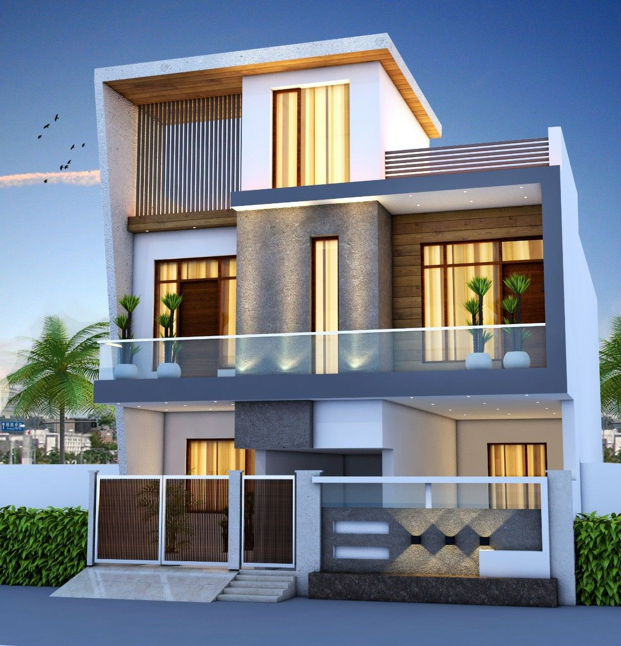 Modern House Plans, House Elevation, House Front