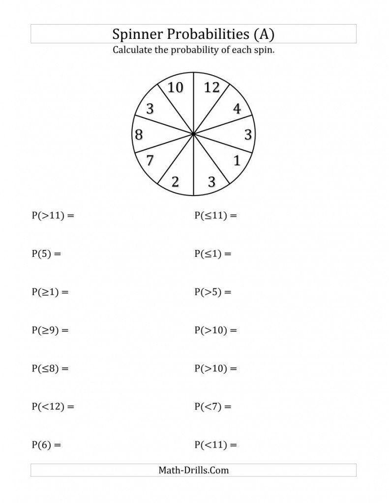 medium resolution of Probability Worksheet 7th Grade Probability Worksheets Math Drills 28  Images 10 Section   Probability worksheets
