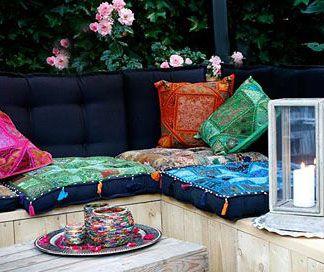 Patchwork Boho Or Ibiza Style In Your Garden / Balcony.
