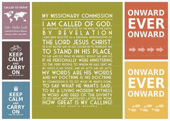 LDS Missionary Art  Subway Art  Digital File by simplyfreshdesigns