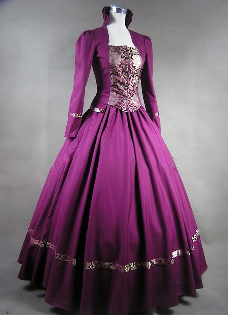b6f87a75d Brocado púrpura Gótico Victoriano Vestido de Bola Del Vestido Steampunk  Vestido Cosplay para La Venta