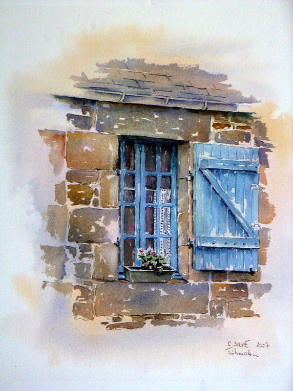Stock Photo Aquarelle Abstraite Peinture Paysages Printemps
